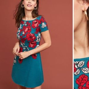 NWT Anthropologie Allison Floral Mini Dress Med